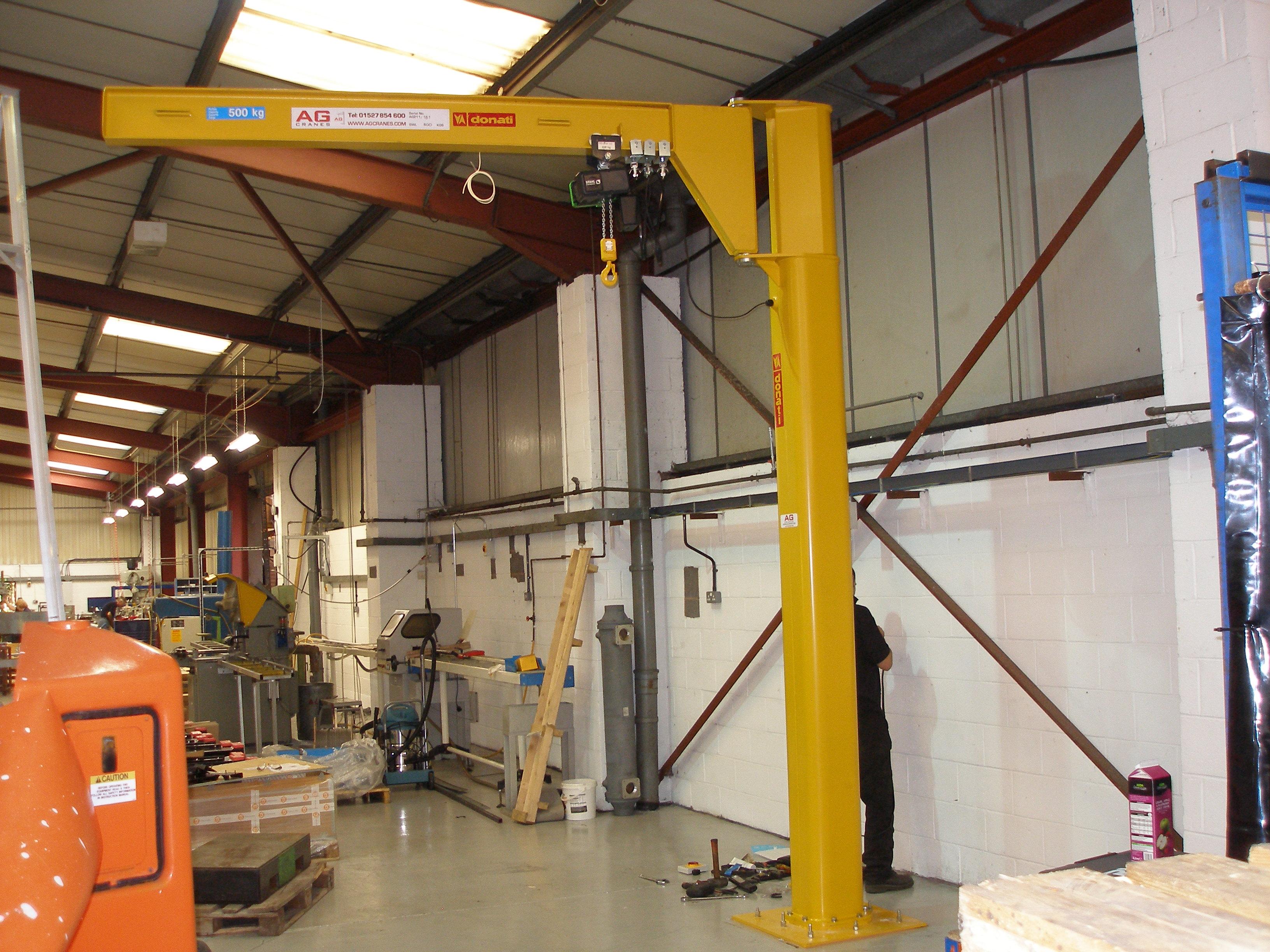 500kg Donati underbraced jib crane