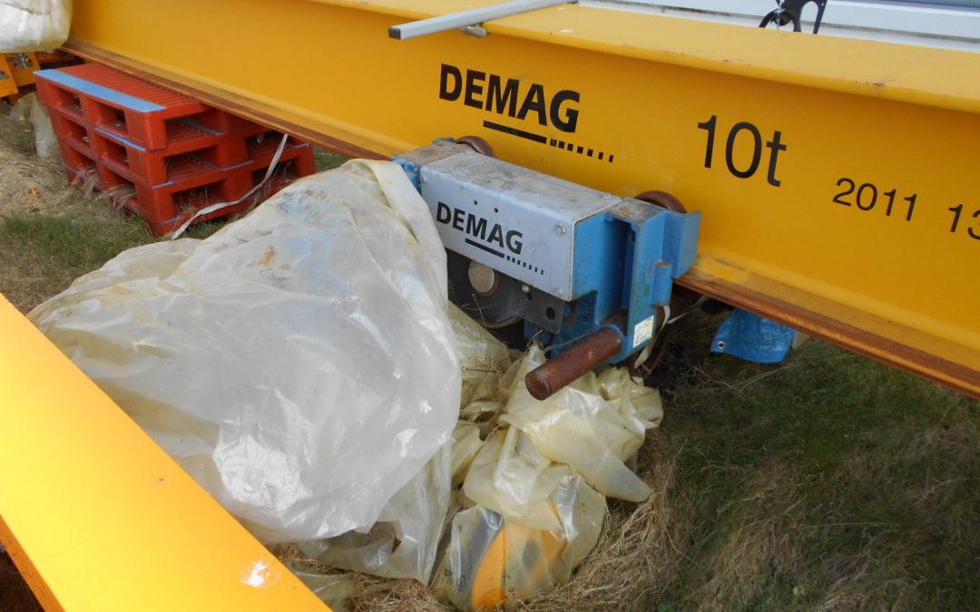 Demag overhead 10 tonne crane
