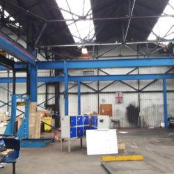 crane columns and rail