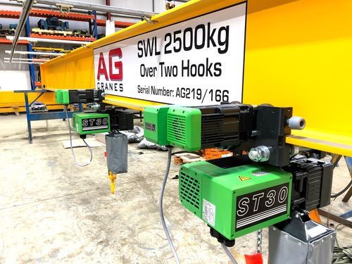 Stahl electric power trolley hoist 48v control