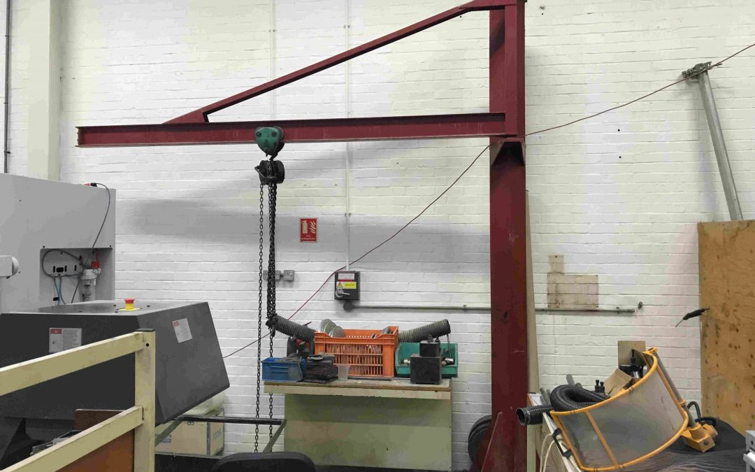 Second hand / used 125kg Overbraced Jib Crane