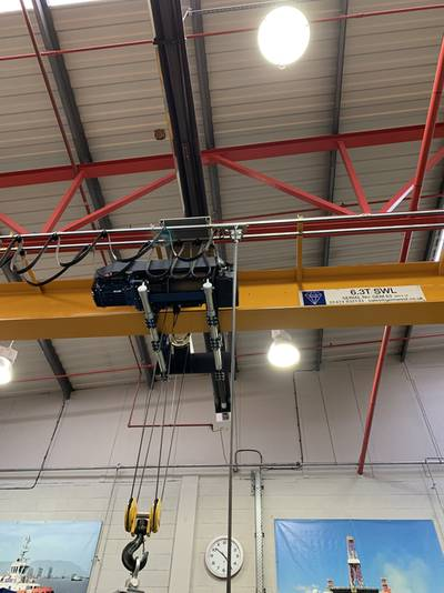 6.3t Donati Wire Rope Hoist for sale.  Used condition. AG385