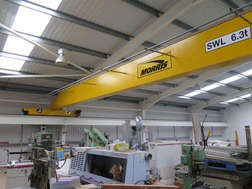 Used 6.3t Single Girder Morris Overhead Crane SOLD