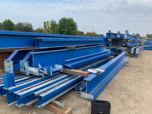 supporting crane steelwork