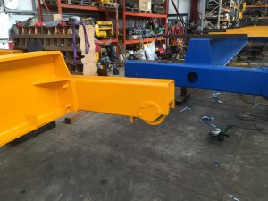 shear mounted crane carriages