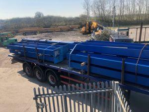 transporting crane steel