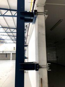 tied back crane steel