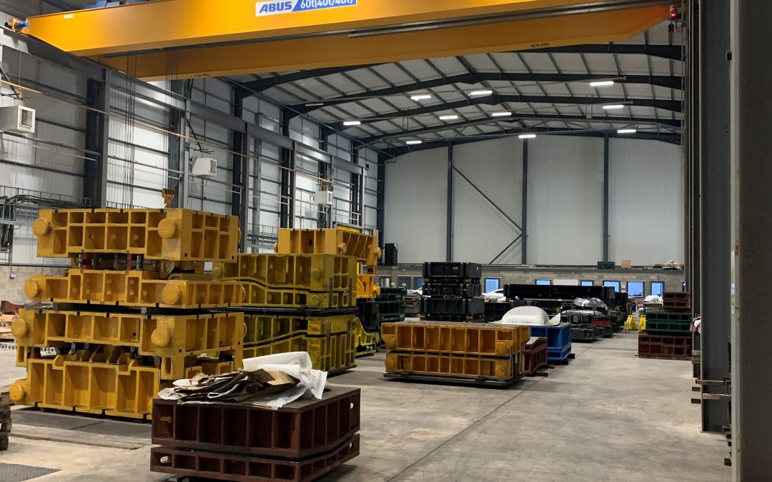 Abus 60 tonne SWL crane with 2 hoists
