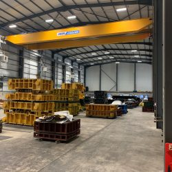 Abus 60 tonne SWL crane with 2 hoists