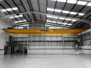 pitched roof and crane